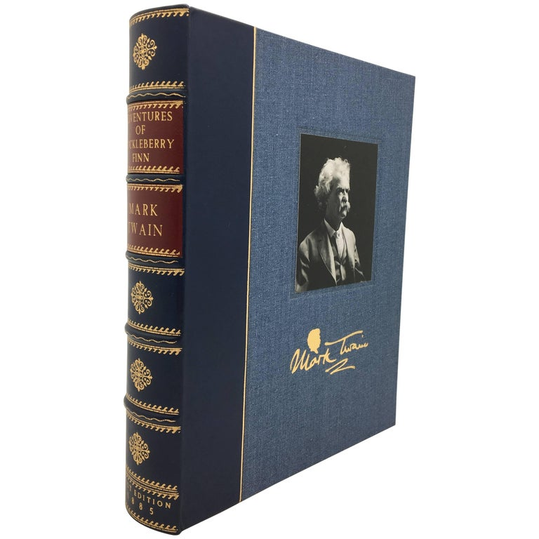 Adventures of Huckleberry Finn by Mark Twain in Rare Blue Boards, 1885