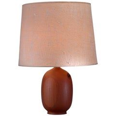 Danish Wooden Vase Shaped Table Lamp, 1960s