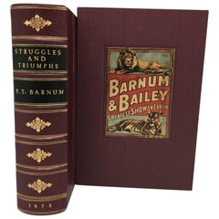 Struggles and Triumphs by P.T. Barnum, Author's Edition, 1875