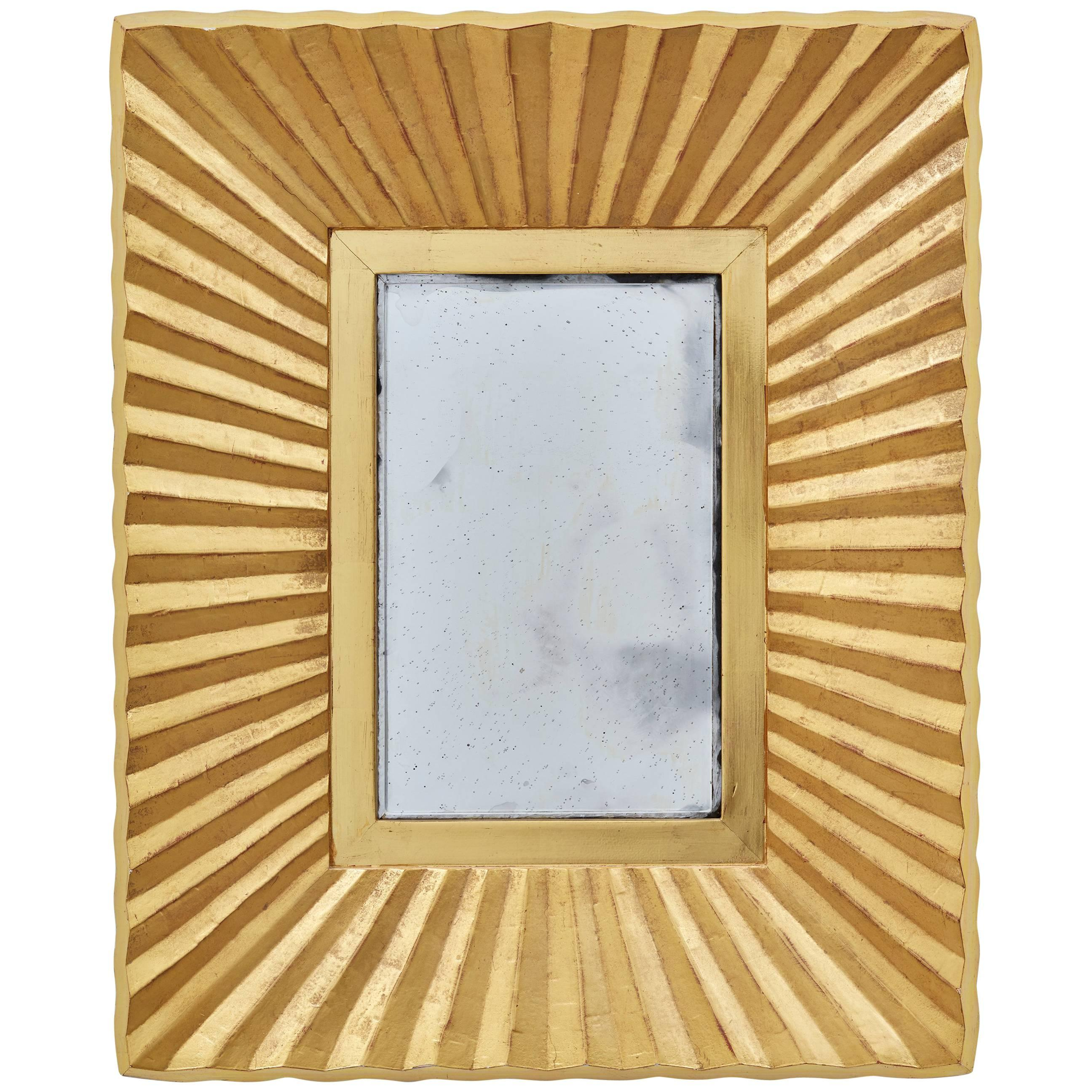Bark Frameworks 23Karat Gold Pleated Wall Mirror Designed by Jared