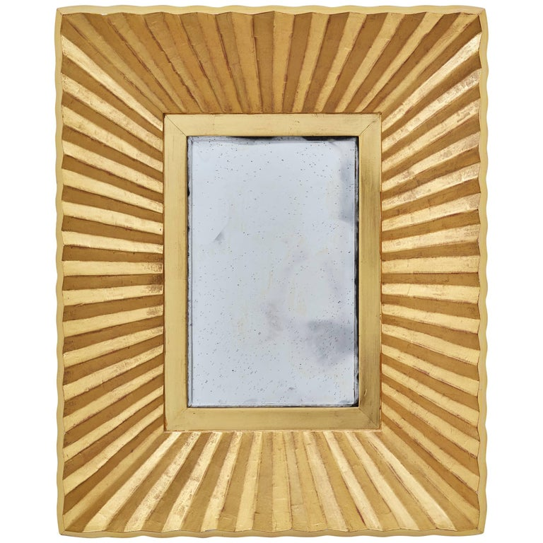 Bark Frameworks 23-Karat Gold Pleated Wall Mirror, Designed by Jared Bark