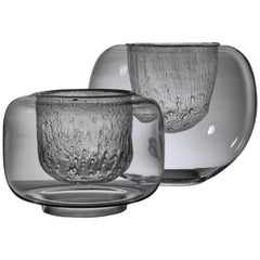 Pair of Timo Sarpaneva Glass Bowls for Iittala, Finland, 1960s