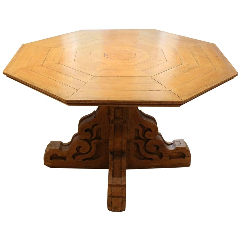 19th Century Folk Art Center Table For Sale