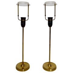 Le Klint Brass Table Lamps, Denmark, Scandinavian, 1940s