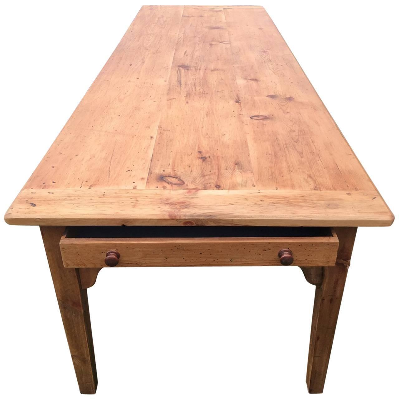 Farmhouse Table In Pine, English, Circa 1860 1