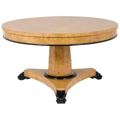 French Empire Style Round Dining Table
