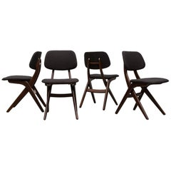Set of Four Hovman Olsen Style Dining Chairs for Webe