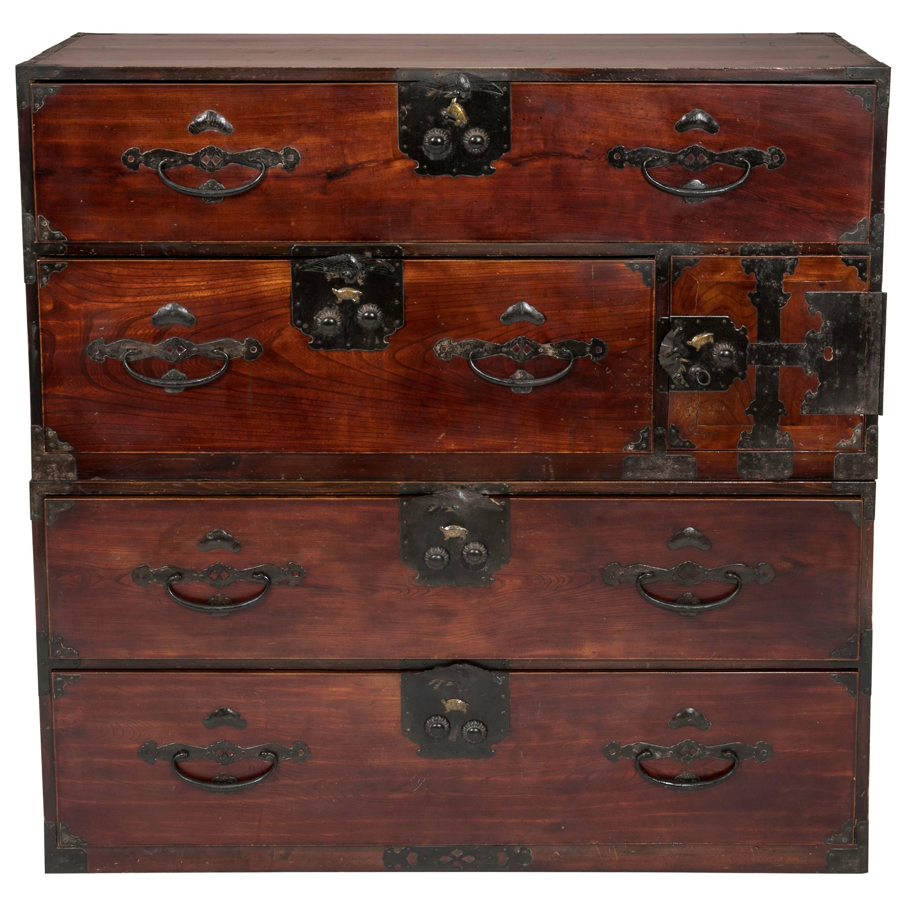 Antique Japanese Tansu Chest of Drawers For Sale at 1stdibs
