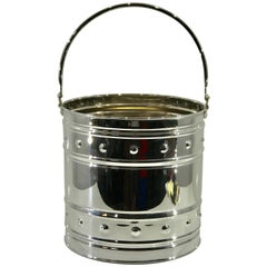 Mid-Century Silver Plated Peat/Kindling Bucket