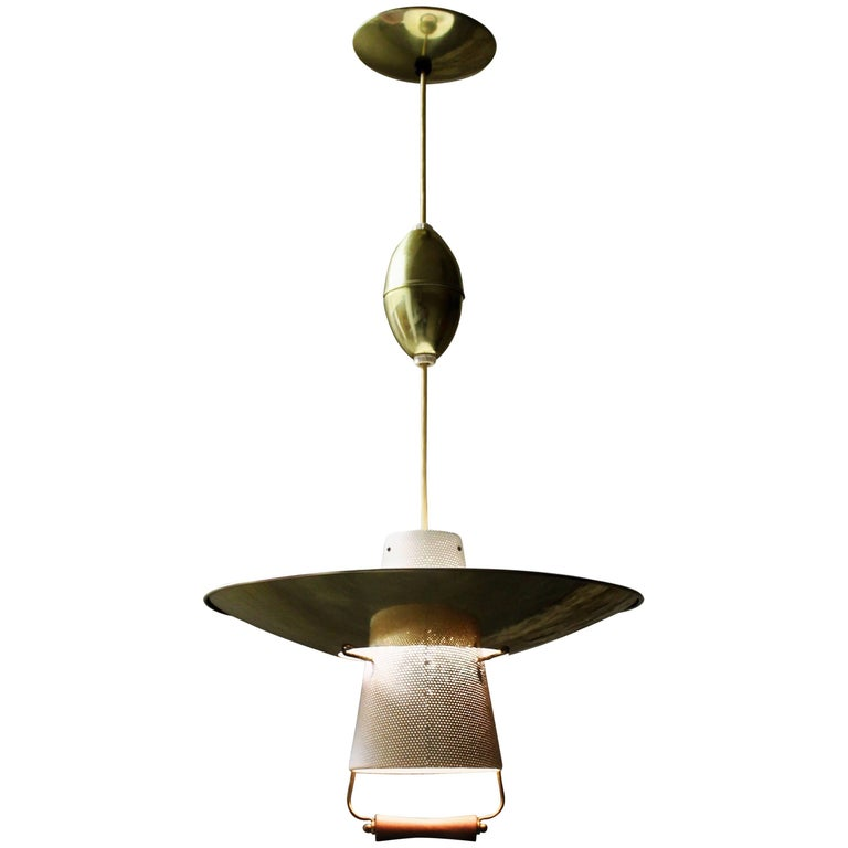 Gerald Thurston Pull Down Pendant Light for Lightolier