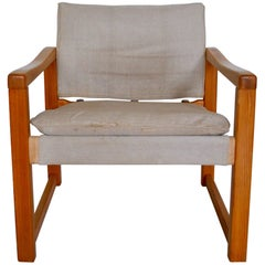 Scandinavian Architectural Armchair by Karin Mobring Model Diana, 1970s, Sweden