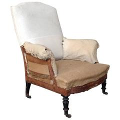 French 19th Century Armchair with High Back