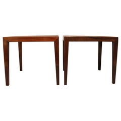Pair of Side Tables by Severin Hansen and Haslev, 1960s