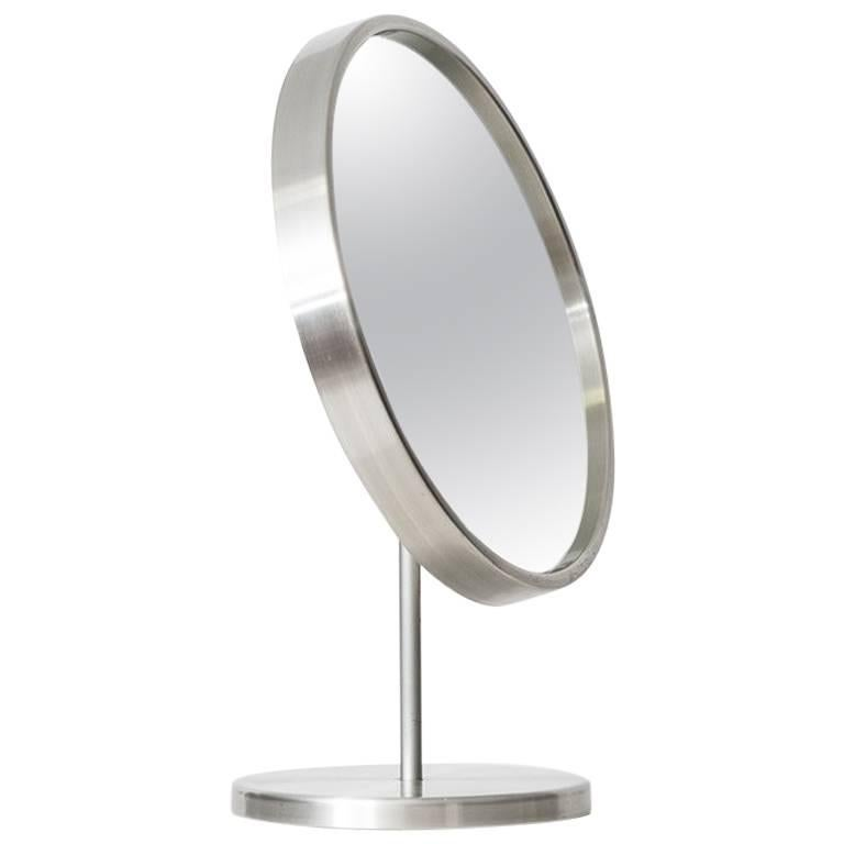 Table Mirror in Aluminium by Glas Mäster in Sweden
