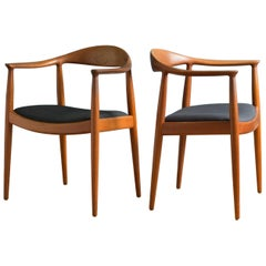 Pair of Hans J. Wegner the Chair in Teak for Johannes Hansen