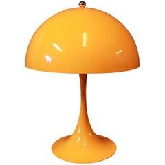Orange Panthella Mini Table Lamp by Verner Panton and Louis Poulsen