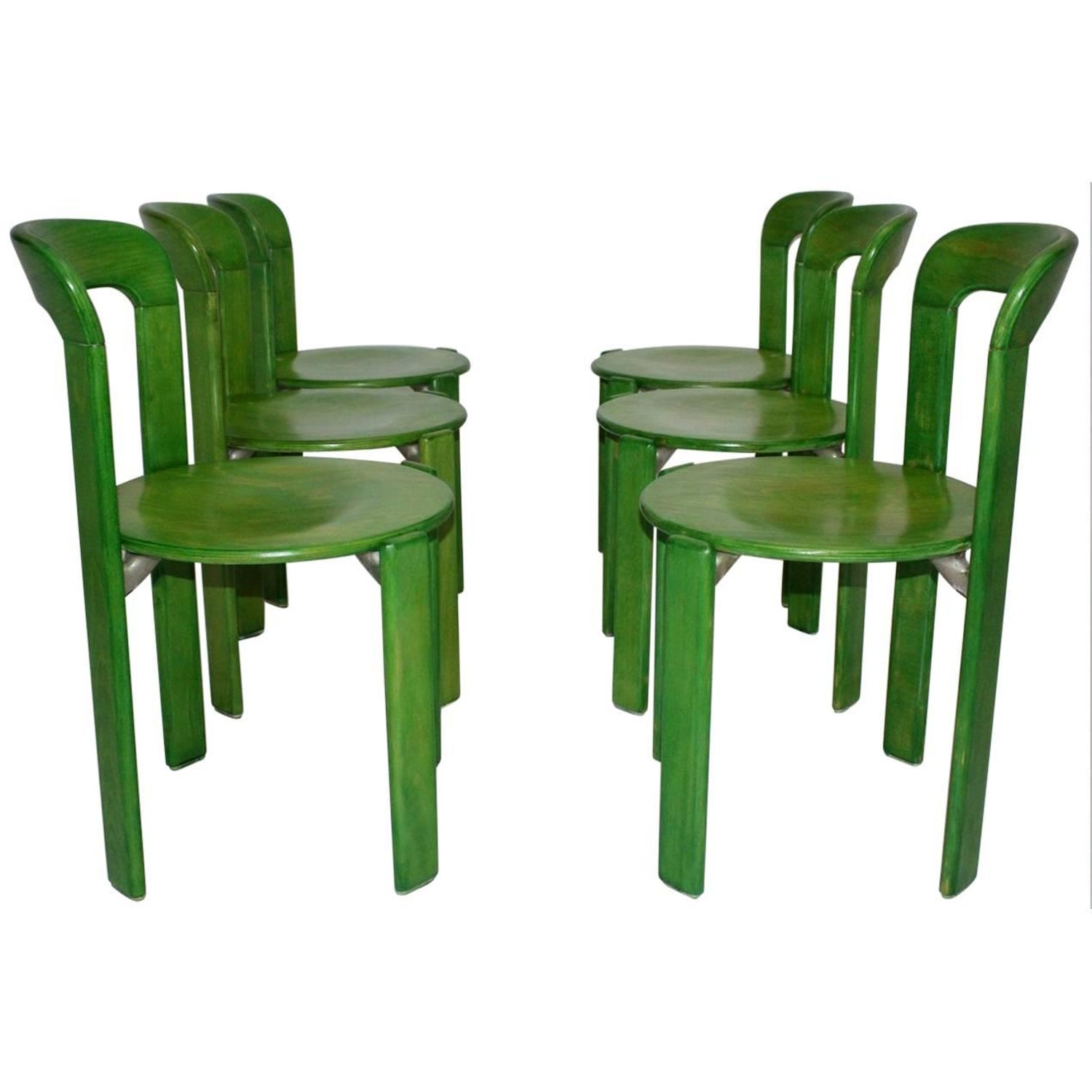 Bruno Rey Dining Chairs Set of Four at 1stdibs