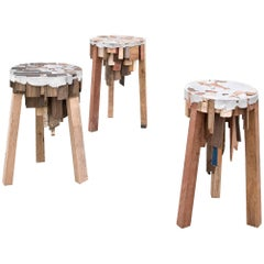 Bits of Wood Stools by Pepe Heykoop