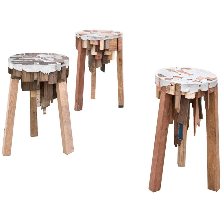 Bits of Wood Stools by Pepe Heykoop