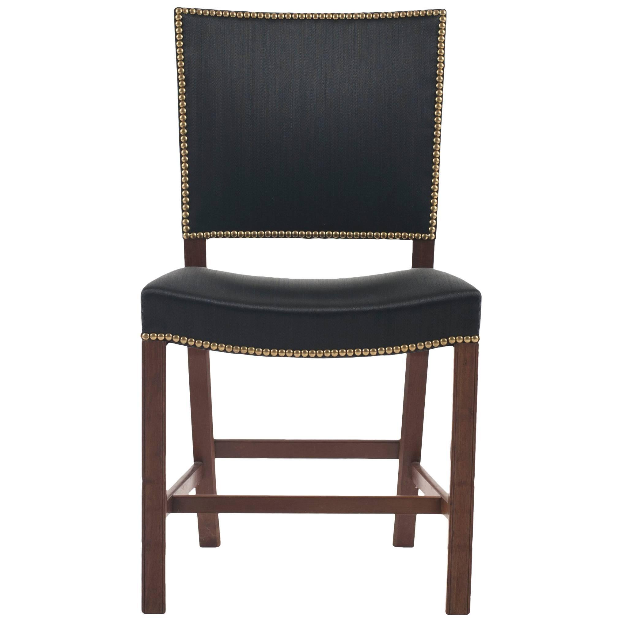 Kaare Klint Red Chair for Rud. Rasmussen, 1930s