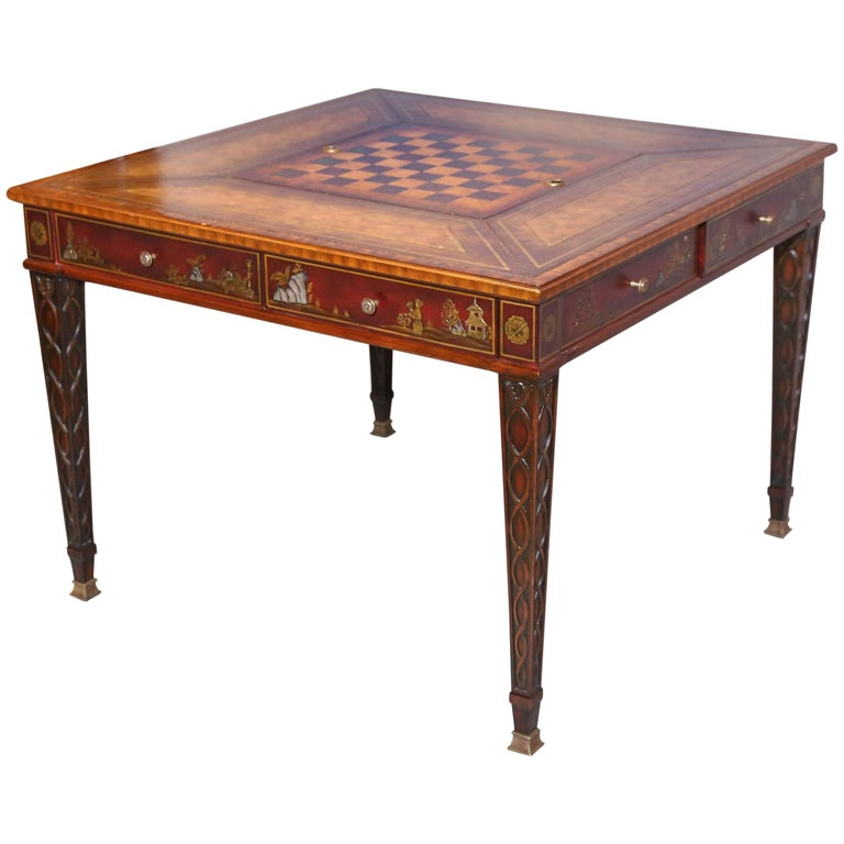 Maitlandsmith Mahogany Game Table With Play Boards For. Ecot Help Desk. Citidirect Help Desk. 3 Drawer Black Nightstand. Drawer Stairs For Bunk Bed. Bookcase With Drawer. Moroccan End Table. Student Desks For Classroom. Cheap Wall Mounted Desk