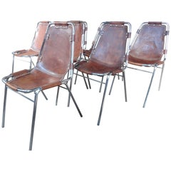 Les Arcs Chairs Chosen by Charlotte Perriand for Cassina, 1960s, Set of Eight