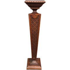 Turn of the Century Hand-Carved Art Nouveau Sculpture or Plant Stand, Pedestal