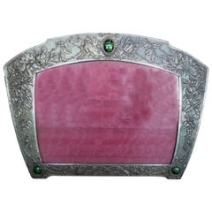 Anonymous, an Art Nouveau Silvered Pewter Frame