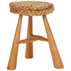French Adrien Audoux & Frida Minet Stool 50s