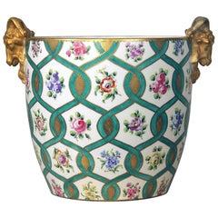 Late 19th Century Sèvres Style Parcel-Gilt Porcelain Jardinière