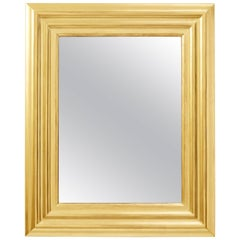 Degas No. 6 Ripple Wall Mirror, Gilded in Yellow Gold, by Bark Frameworks