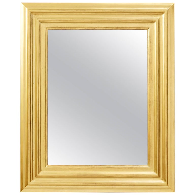 Degas No. 6 Ripple Wall Mirror, Gilded in 23kt Yellow Gold, by Bark Frameworks