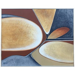 Large Mid-Century Modern Abstract Painting by Lee Reynolds Burr