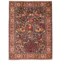 Antique Agra Indian Rug with Royal Howdah and Hunting Scene
