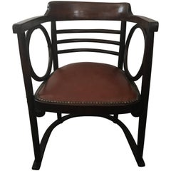 Early 20th Century Vienna Concession Fledermaus Armchair by Josef Hoffmann