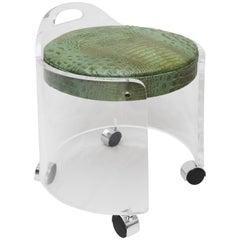 Charles Hollis Jones Lucite Vanity Chair