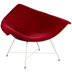 Rare Augusto Bozzi for Fratelli Saporiti Chair in Ruby Mohair on Wire Base
