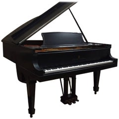 Steinway Model A Satin Ebony Grand Piano with Hamburg Action