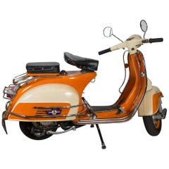 Orange Vespa circa 1960s Scooter