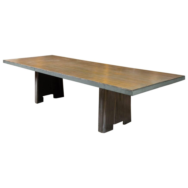 Bowing Alley Top Industrial Base Table at 1stdibs : 8299763master from www.1stdibs.com size 768 x 768 jpeg 21kB