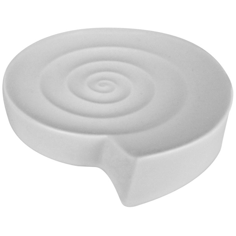 Nick Munro White Modernist Spiral Dish or Ashtray for Wedgwood