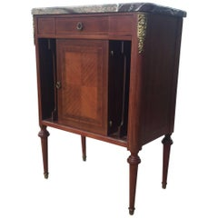 Elegant French Louis XVI Style Side Table Cabinet Nightstand