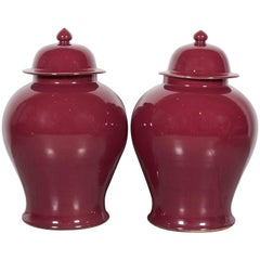 Tall Contemporary Chinese Baluster Jars