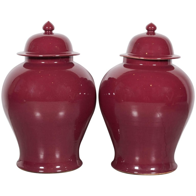 Tall Contemporary Chinese Baluster Jars 1