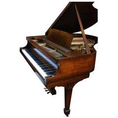 Steinway Dark Walnut Baby Grand Refinished/Refurbished Piano, 2017
