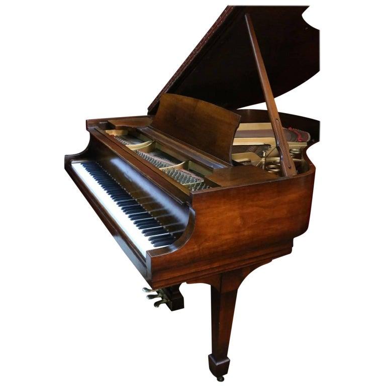 Steinway Dark Walnut Baby Grand Refinished/Refurbished Piano, 2017 1