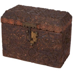 Large Deeply Carved Indo-Persian Trunk, circa 1800