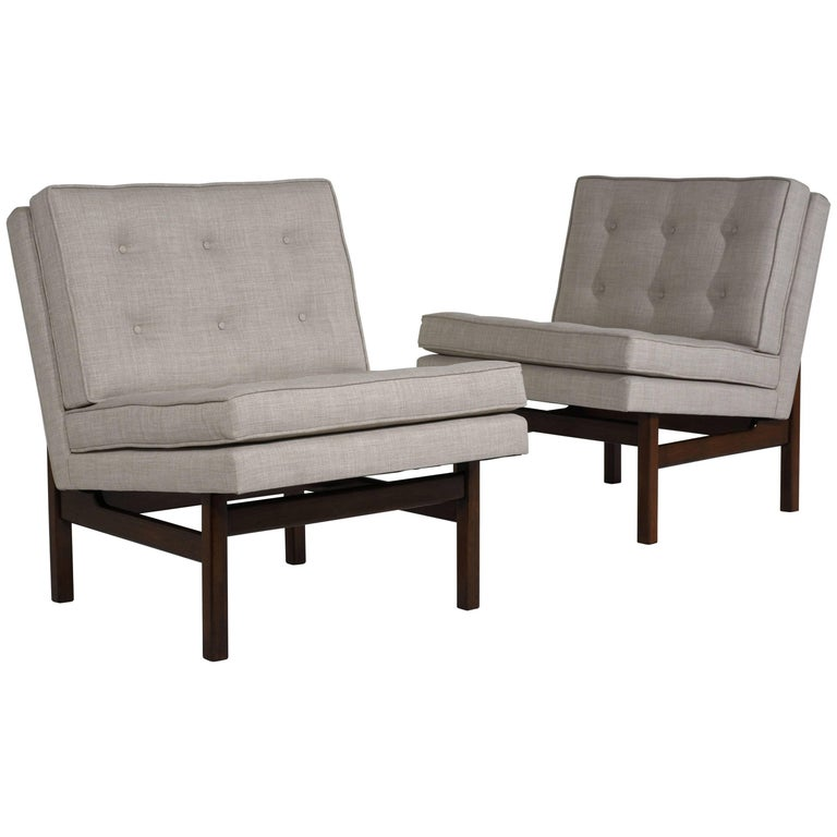 Pair of Mid-Century Modern-Style Slipper or Lounge Chairs