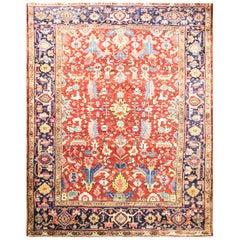 Antique Persian Dragon Heriz/Serapi Carpet