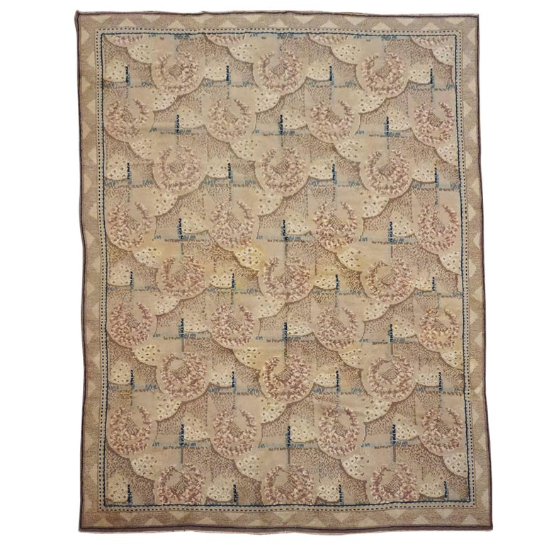 Antique European Savonnerie Rug, circa 1900